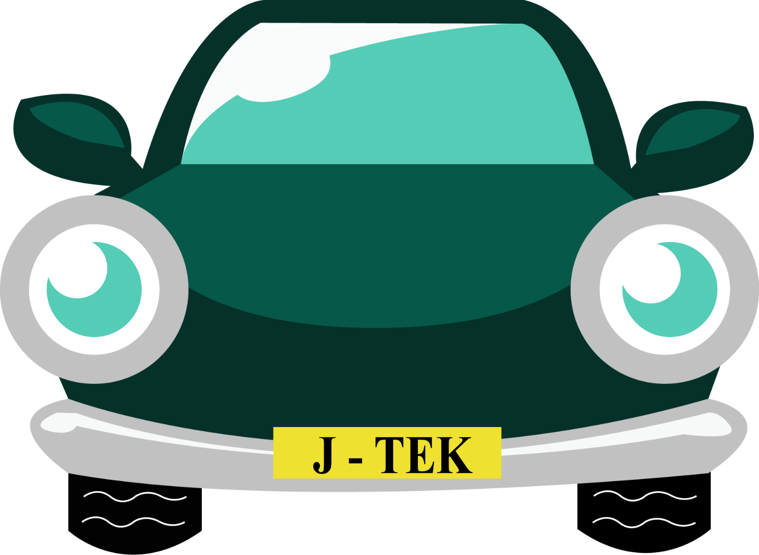 Cartoon Car With J-TEK Number Plate - Car MOT, Servicing & Tyres in Ely at J-Tek